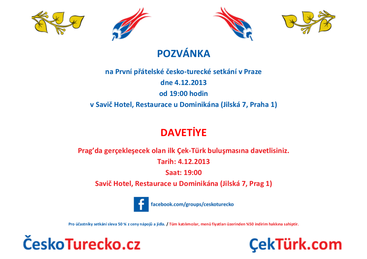 První přátelské česko-turecké setkání