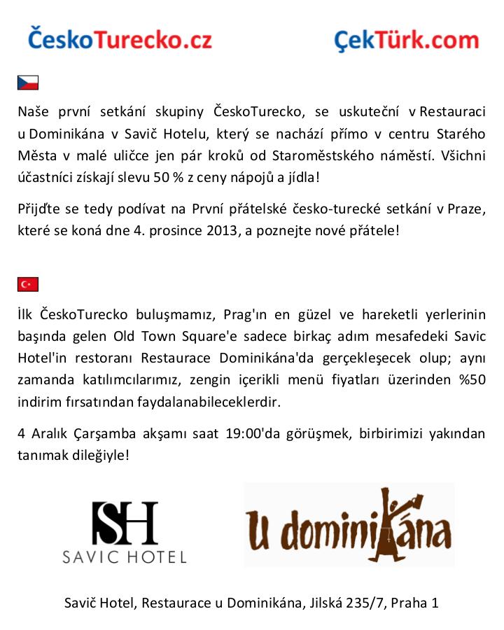 První setkání skupiny ČeskoTurecko