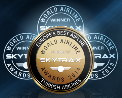 Turkish Airlines: Nejlepší aerolinka v Evropě pro rok 2014