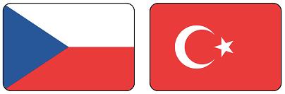 česko a turecko vlajka