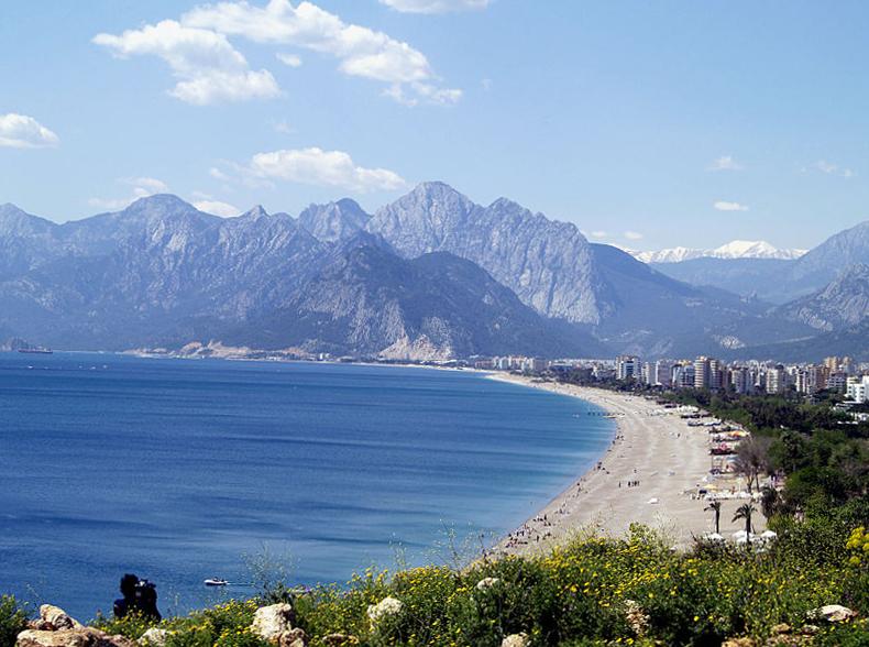 Antalya Turecko pláž