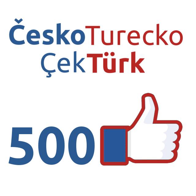Facebookové stránky Česko Turecko / Çek Türk mají více než 500 like!
