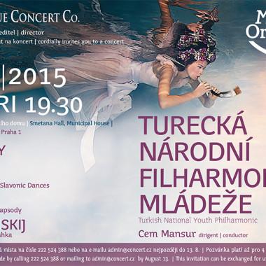 Pozvánka na koncert Turecká národní filharmonie mládeže