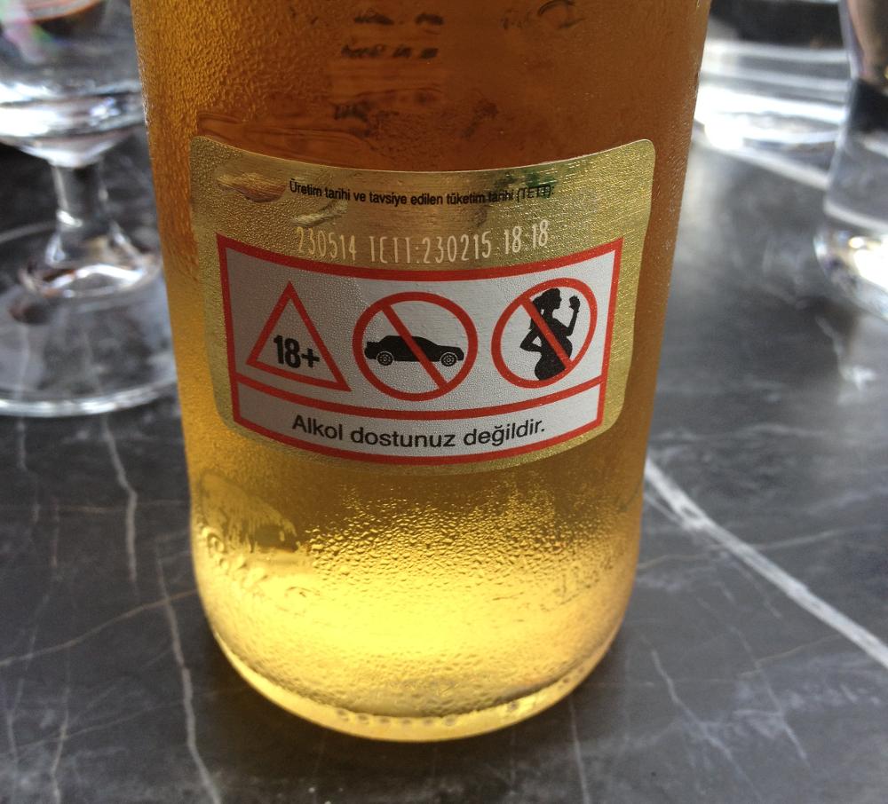 Označení alkoholu v Turecku