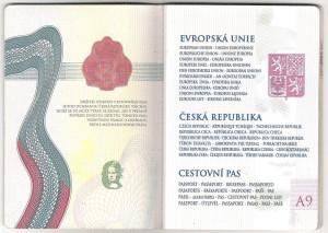 Cestovní pas - Česká republika