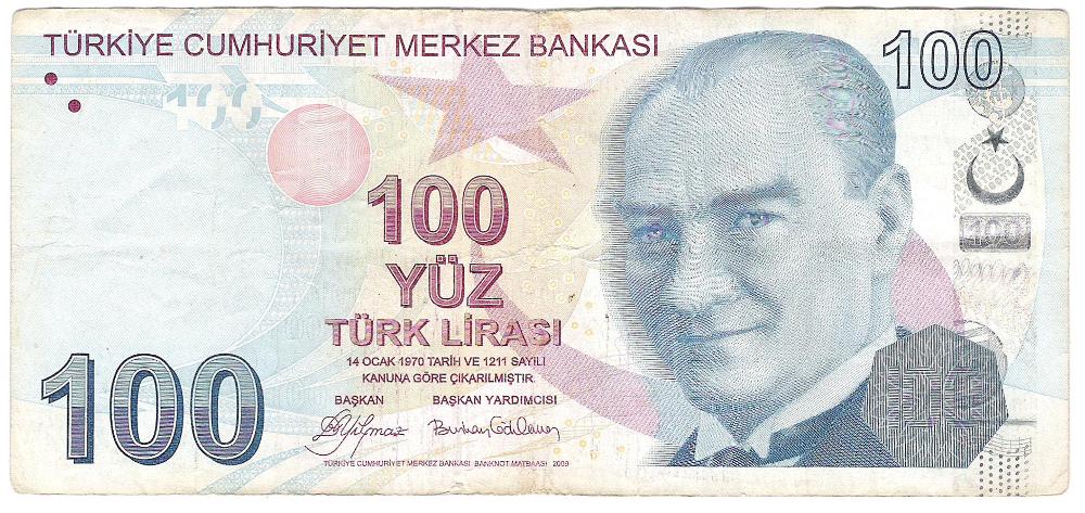 100 tureckých lir