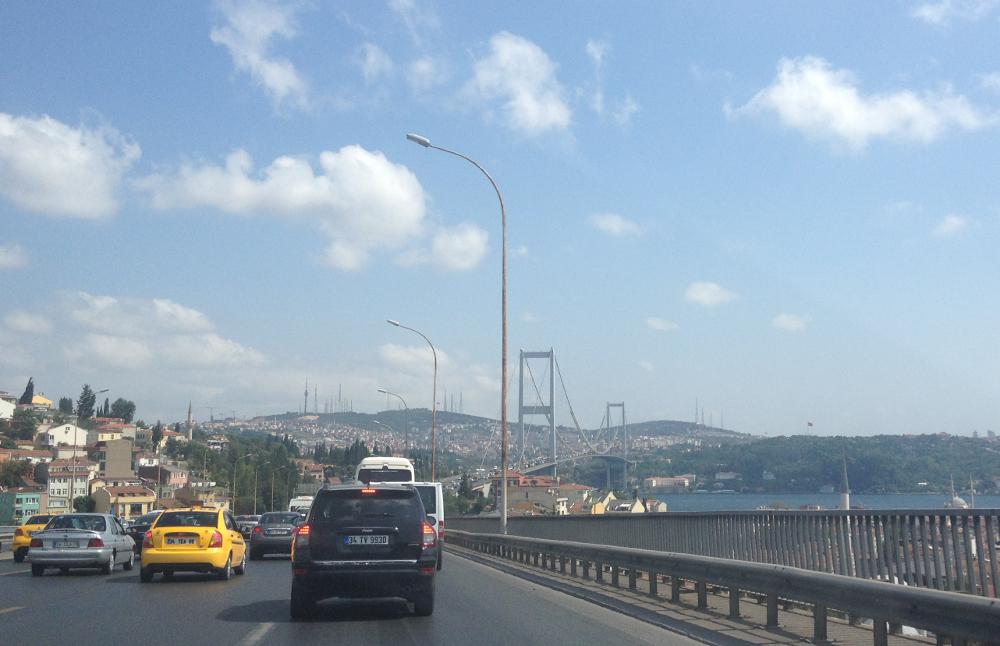 Istanbul Bosporský most Turecko