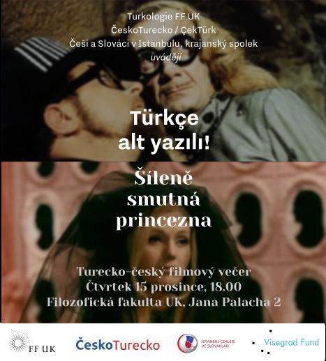 Pozvánka na českou pohádku Šíleně smutná princezna s tureckými titulky – 15.12.2016