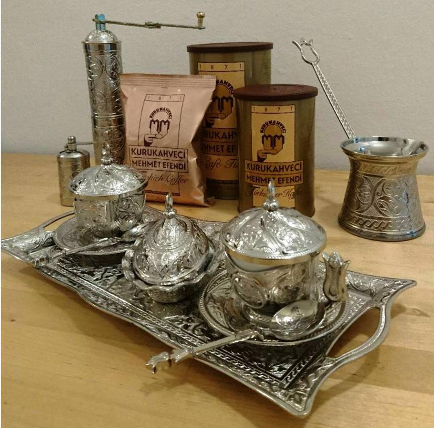 příprava turecké kávy
