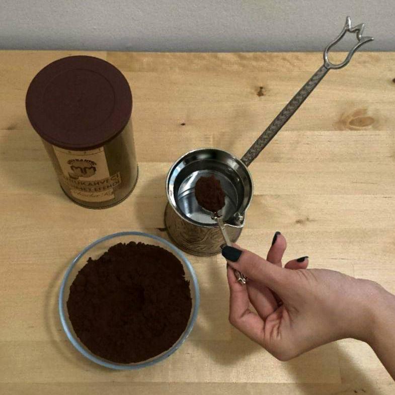 příprava pravé turecké kávy