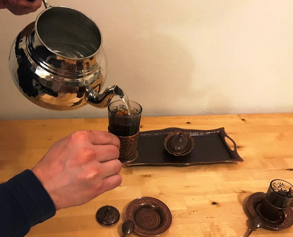 příprava černého čaje