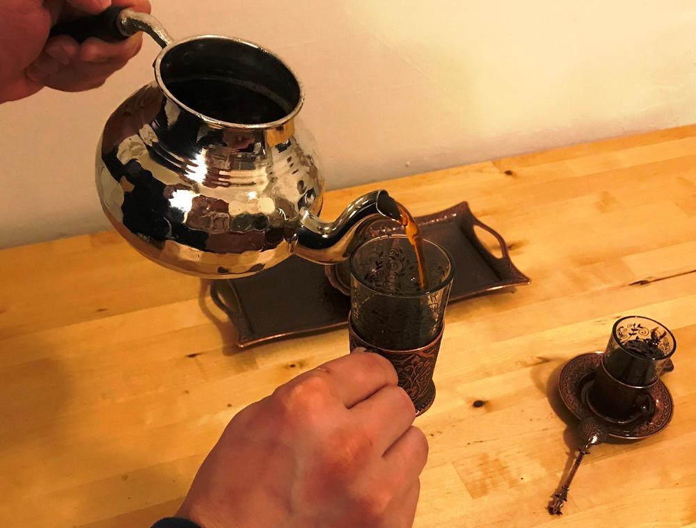 příprava tureckého čaje