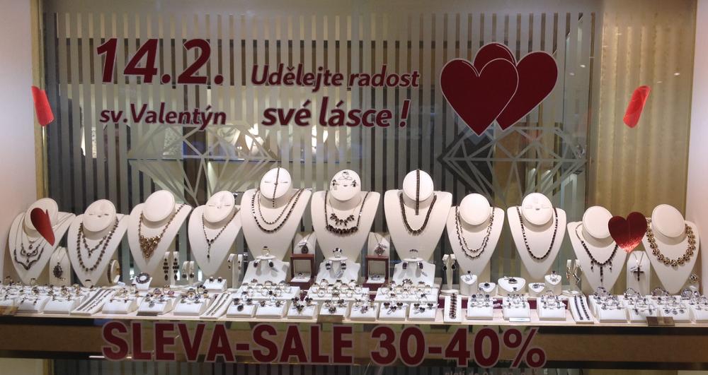 Šperky na Valentýna