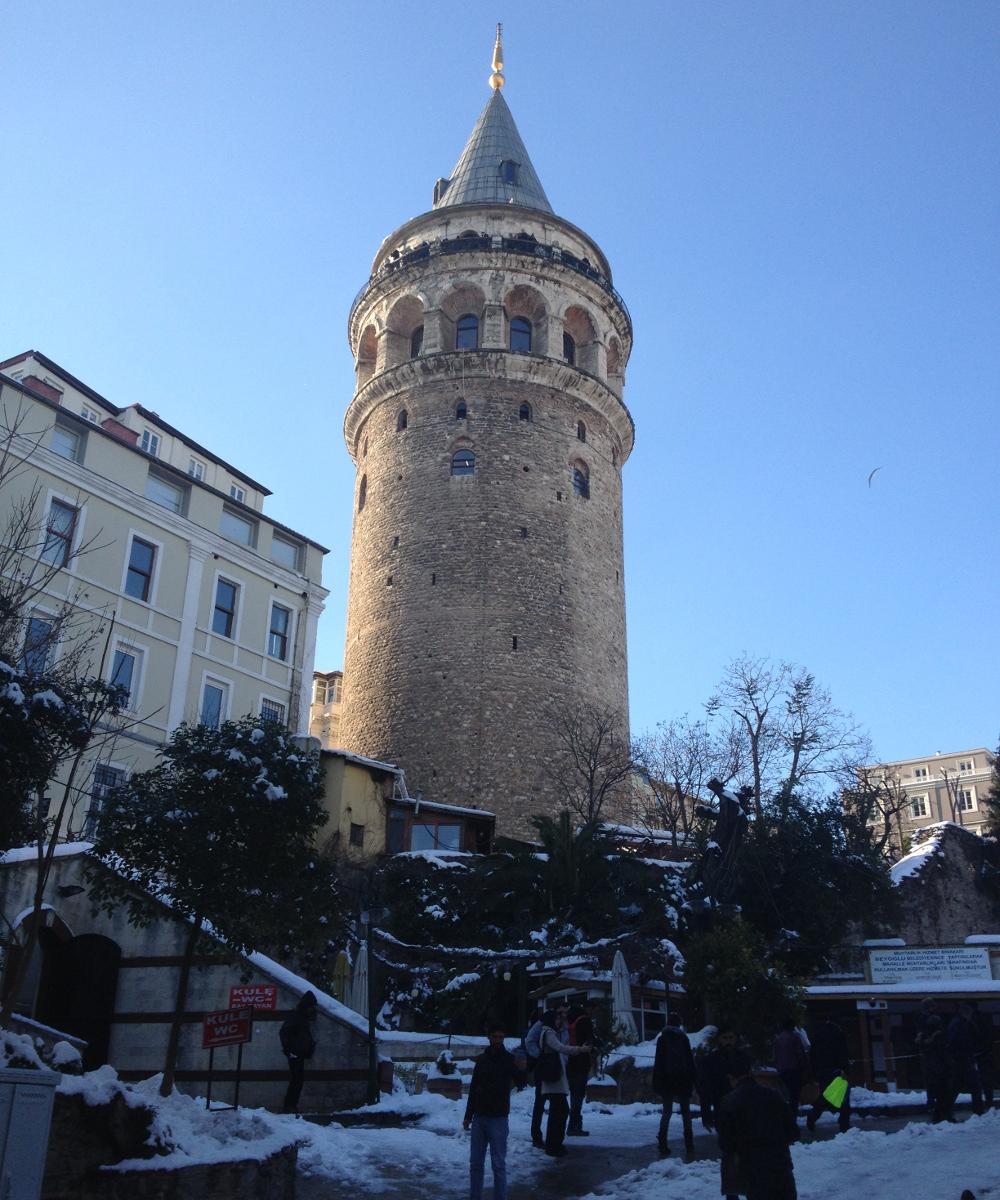 Galatská věž v zimě