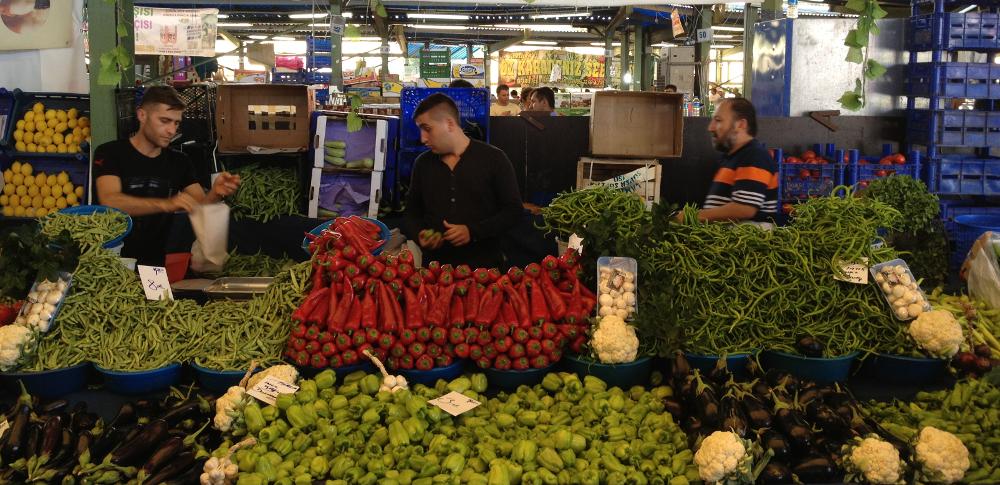 dovolená v Turecku zelenina