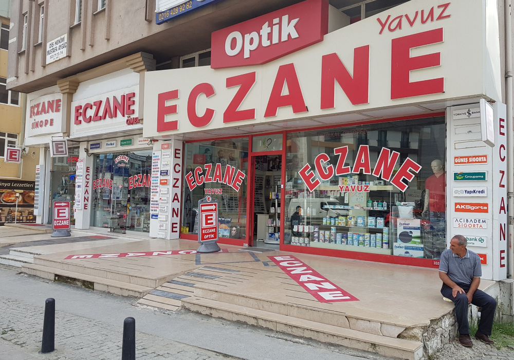 zdravotní potíže Turecko lékarna