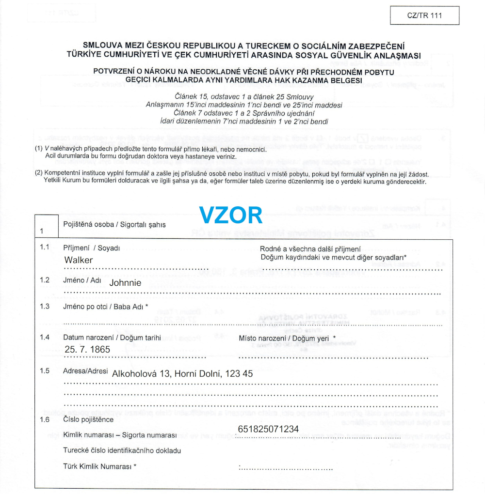 CZ/TR 111 dohoda