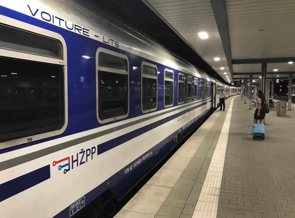 Vlak Mnichov Záhřeb