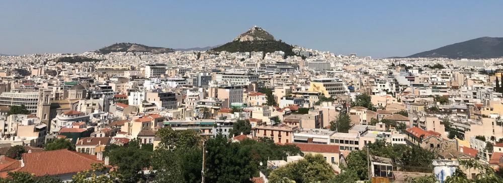 Atény Řecko pohled na město