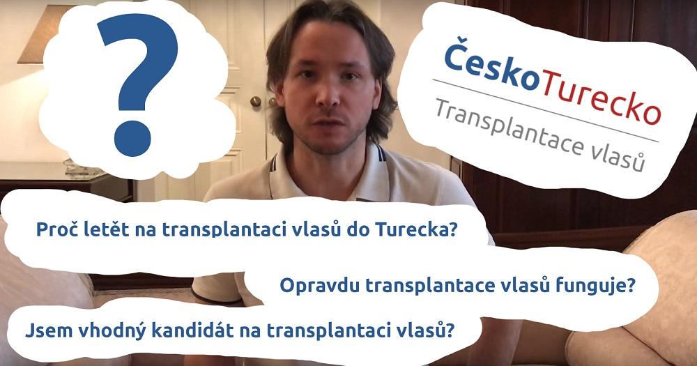 Milan Hnátek YouTube ČeskoTurecko Transplantace vlasů