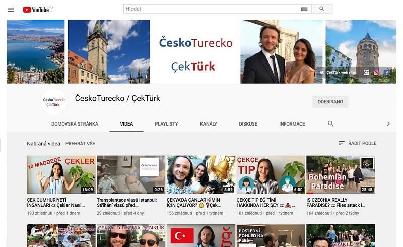 Poznejte ČeskoTurecko na vlastní oči díky videím na YouTube