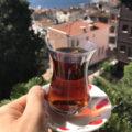 turecký čaj sklenička